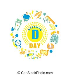 Vitamin D day - 2 November - Vitamin D day. Creative...