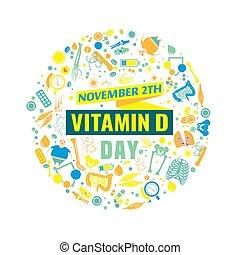 Vitamin D day - 2 November - Vitamin D day. Creative...