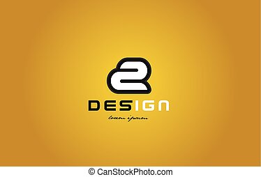 2 number numeral digit white on yellow background