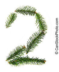 2 - number symbol from christmas alphabet