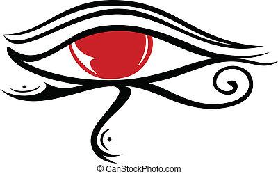 2, olho, ra, egípcio
