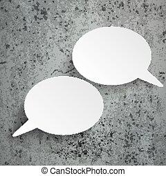 2 Oval Speech Bubbles Concrete