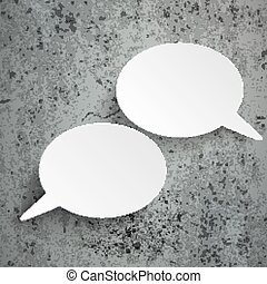2 Oval Speech Bubbles Concrete