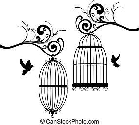2, pássaros