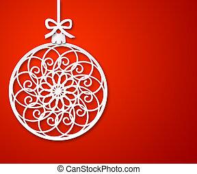 #2, papier, weihnachtskugel