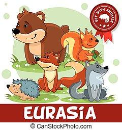 2 part. Animals of Eurasia.
