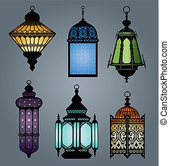 2, parte, jogo, Árabe, lanterna