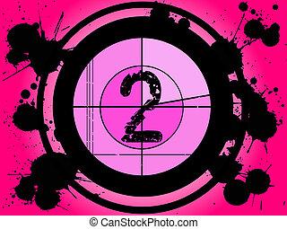 2, película, -, cor-de-rosa, contagem regressiva