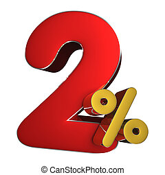 2 percent 3D.