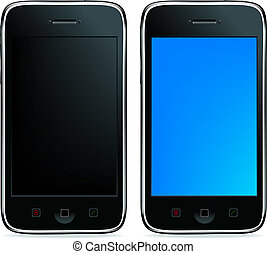 2 Phones - 2 Mobile Phones Or Smartphones With Touchpades...