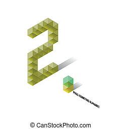 2 - Pixel Isometric Alphabet - Numbers