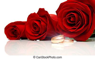 2, ringen, trouwfeest