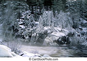 2, rio, inverno