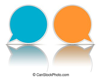 2 Round Speech Bubbles