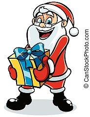 2, santa, cadeau