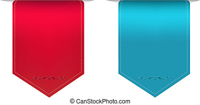 2 Satin Ribbons With Gradient Mesh, Vector Illustration
