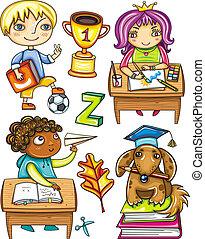 2, schoolchildren