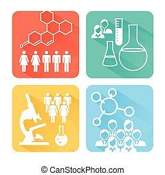 2, science, recherche, rect, icônes