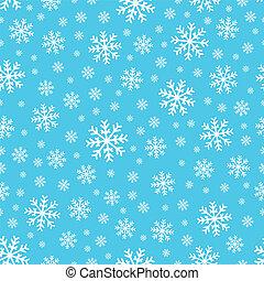 2, seamless, fond, flocons neige