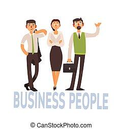 2, set, zakenlui