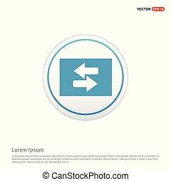 2 side arrow Icon - white circle button