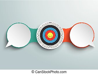 2 Speech Bubbles Chain Target