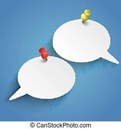 2 Speech Bubbles Pins