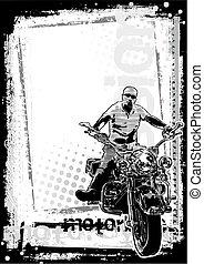 2, sporco, fondo, motocicletta