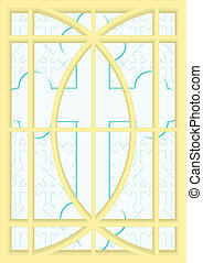 2. Stained-glass windows.
