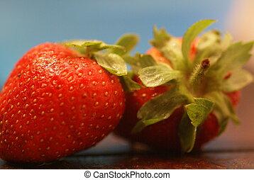 2 strawberries