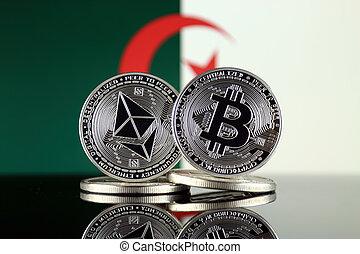 2, términos, argelia, flag., (btc), bitcoin,...