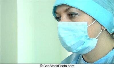 2, tension, femme, sous, docteur