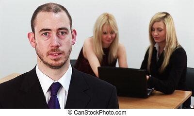 2, travail, jeune, equipe affaires