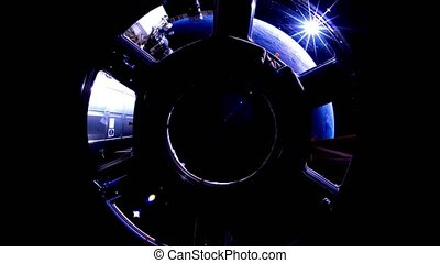 2 videos in1. Planet Earth seen from the ISS. Earth through...