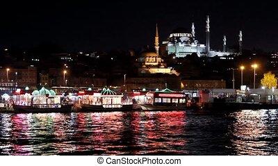 2, vue, eminonu, istanbul, nuit