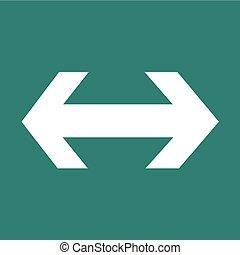 2 way arrow icon illustration design