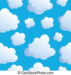 2, wolkenhimmel, seamless, hintergrund