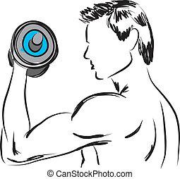 2, work-out, illustrazione
