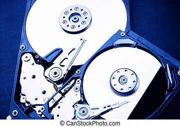 "2 x HDD - Hard Disk Drive is open - 2,5"" and 3,5"""