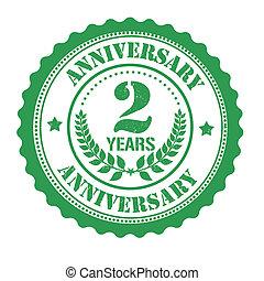 2 years anniversary stamp