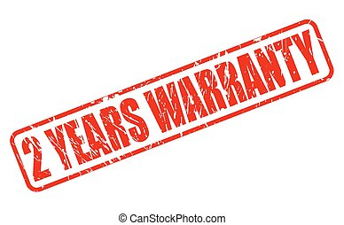 2 YEARS WARRANTY red stamp text