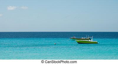 2 yellow boat