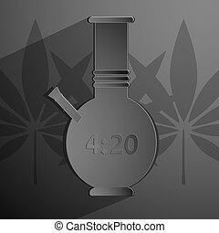 20., 黒い背景, 4, ベクトル, bong, 碑文, 定型