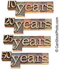 20, 10, -, anniversaire, années, 50