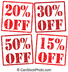 20 %, 30%, 15%, 50% off stamps - 20 %, 30%, 15%, 50% off...