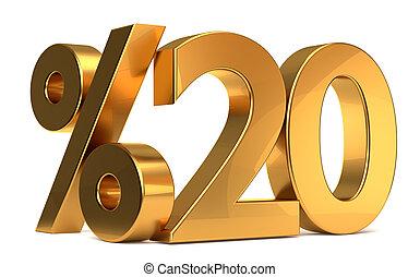 %20 3d rendering golden symbol