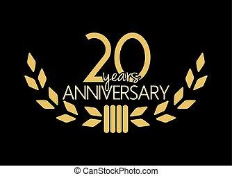 20, anniversario, anni