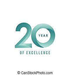 20, ano, de, excelência, vetorial, modelo, desenho, ilustração