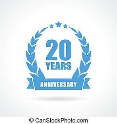 20 anos, aniversário, ícone