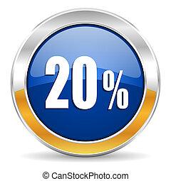 20, cento, ícone
